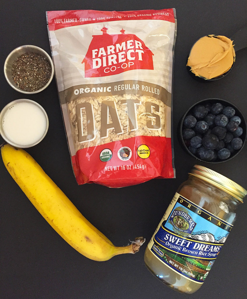 blueberry oat bar ingredients