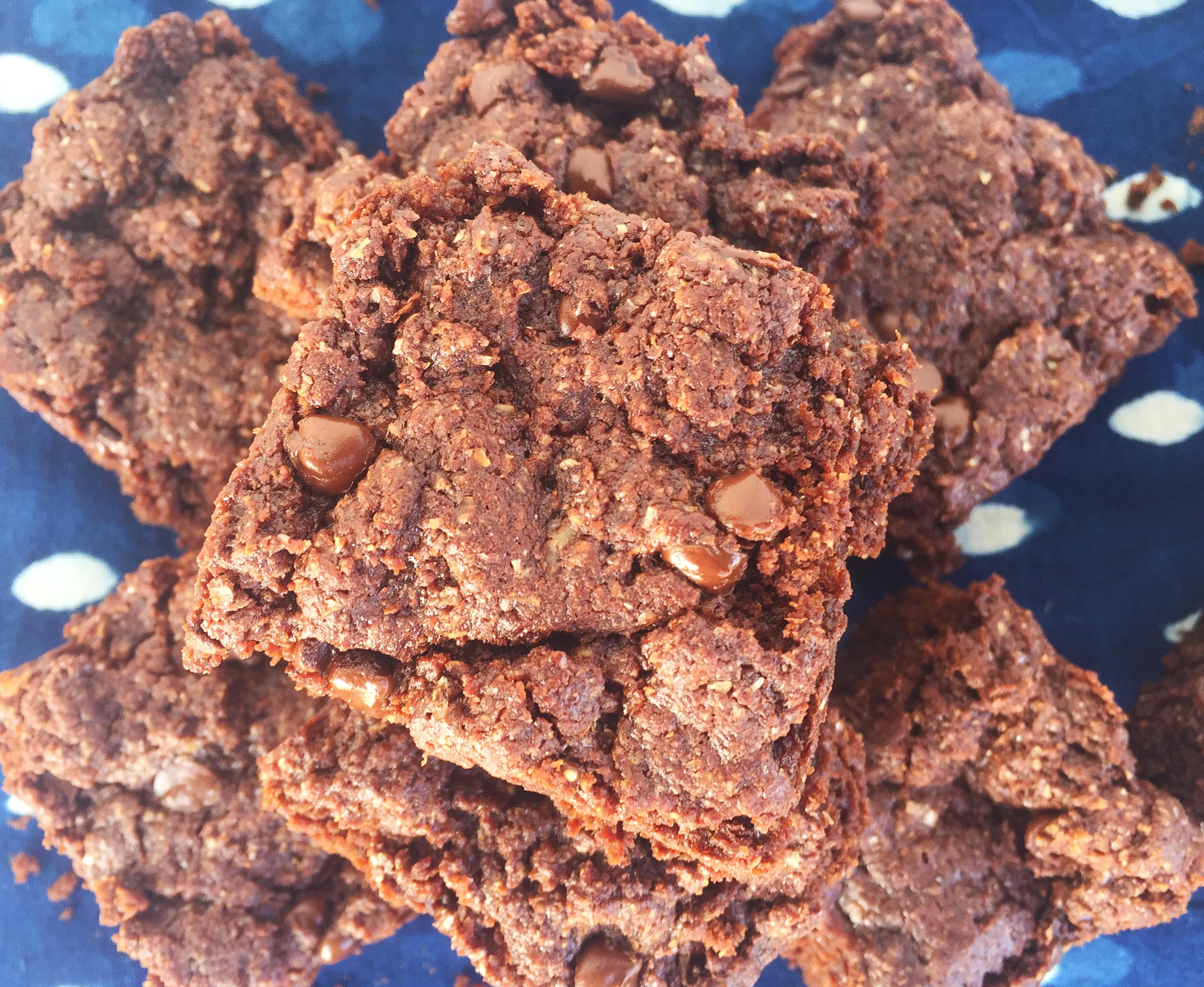 hazelnut butter brownies-1
