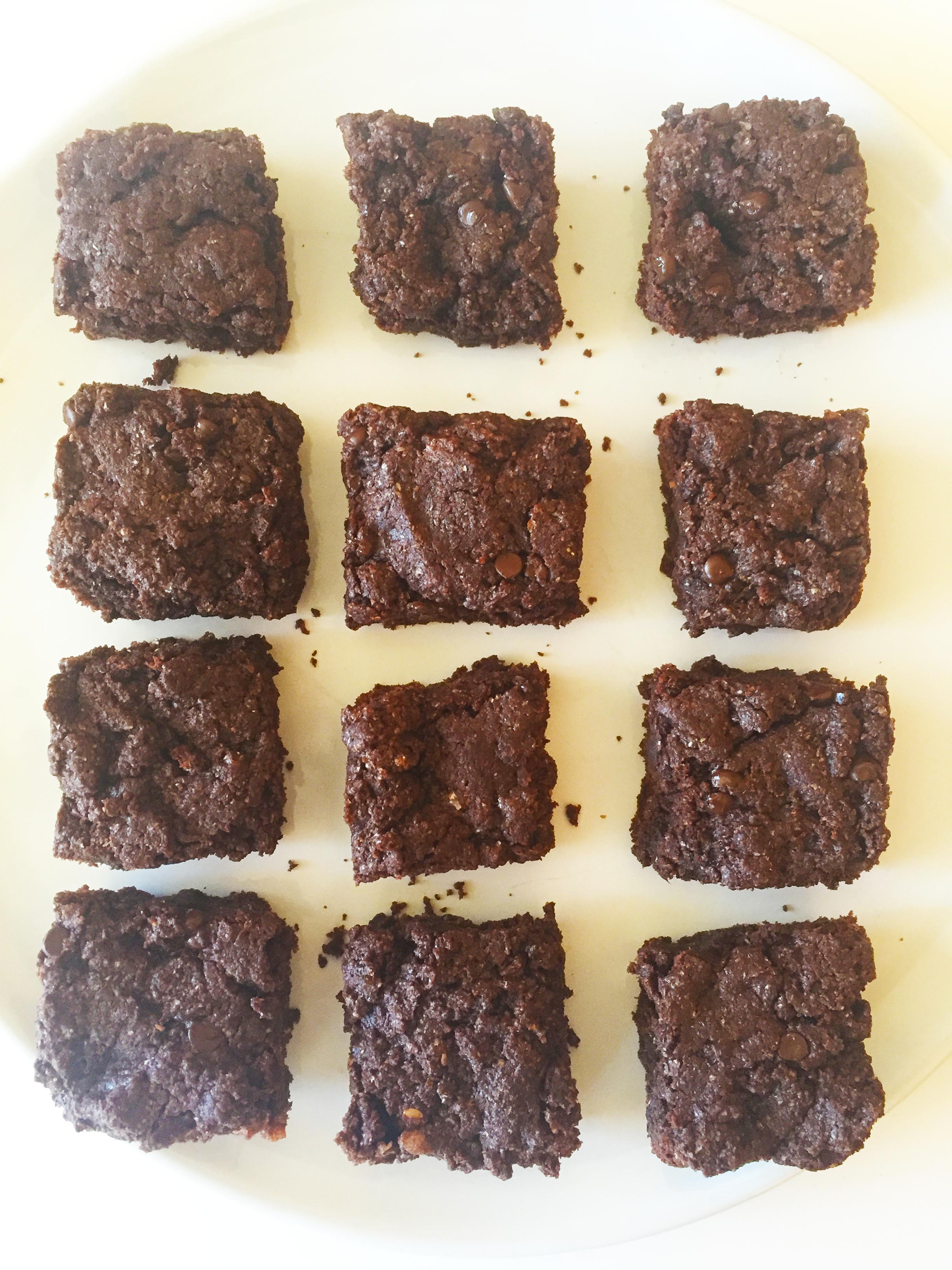 hazelnut butter brownies-7
