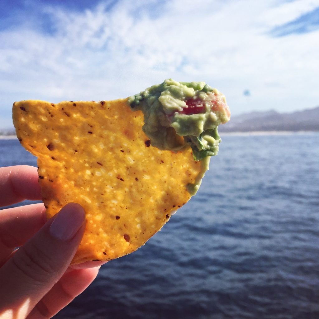 Cabo sailboat guacamole