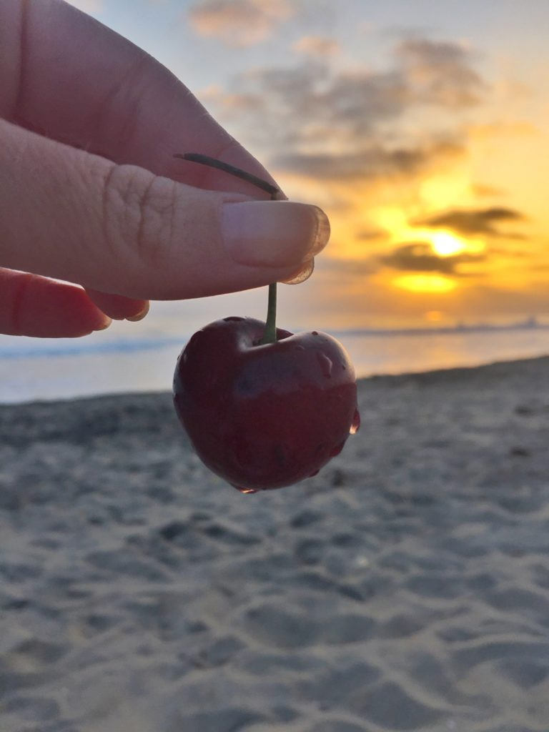 Cherries at the beach