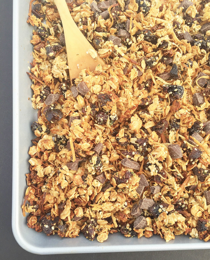 cherry coconut granola-5