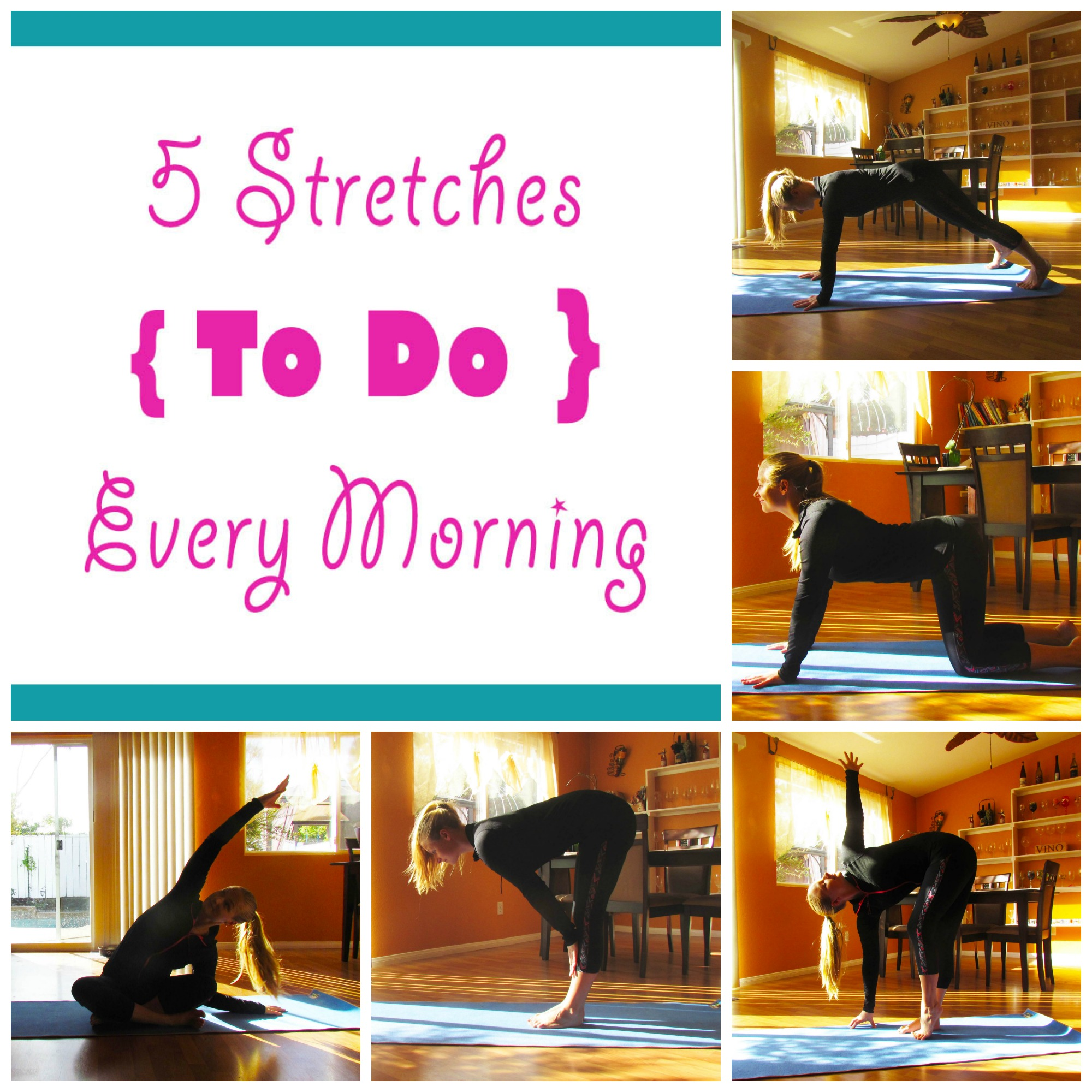 Morning Stretches Collage