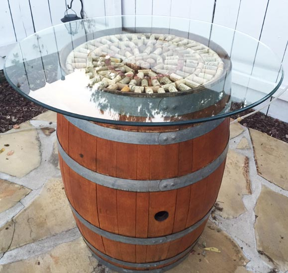 diy time wine barrel cocktail table tutorial foodie