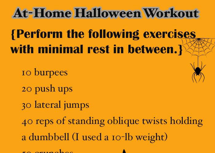 An At-Home Halloween Inspired Workout