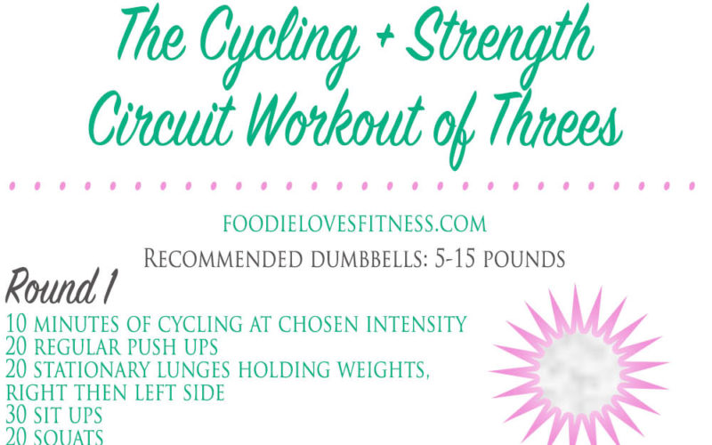 The Cycling + Strength Circuit Workout of Threes