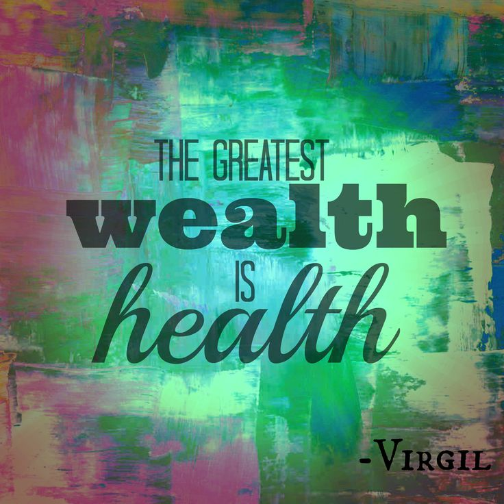 My Health is Your Wealth